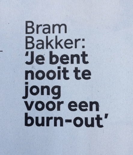 bram bakker - jongeren met een burnout