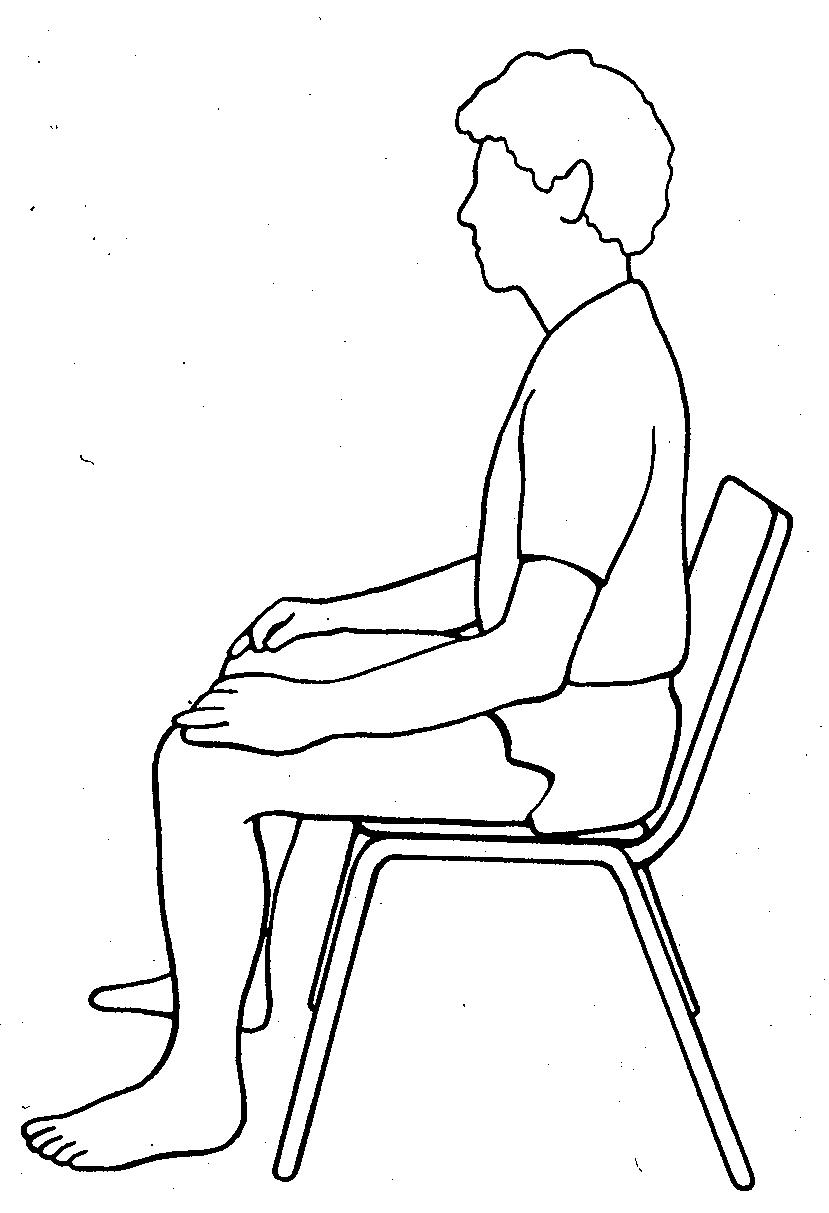 meditatie houding stoel
